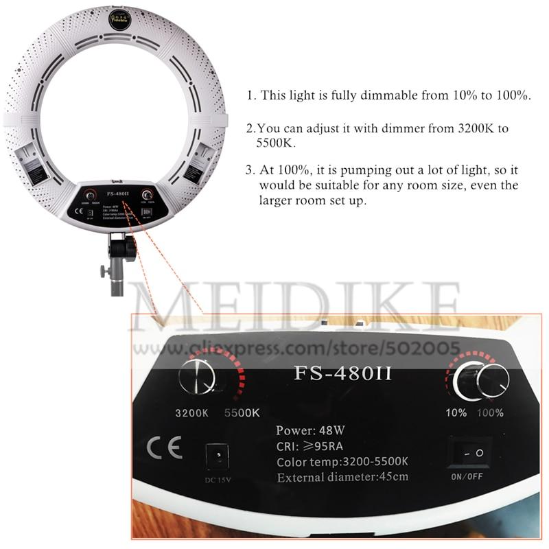 Yidoblo ақ FS-480II Dimmable Pro 2 түсті реттелетін - Камера және фотосурет - фото 2