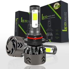 H1 H4 H7 H8 H9 H11 COB Led Headlight Bulb 9005 9006 9003 Led Car Lights with 6000LM Adjustable-Beam Bulbs All-in-One Conversion