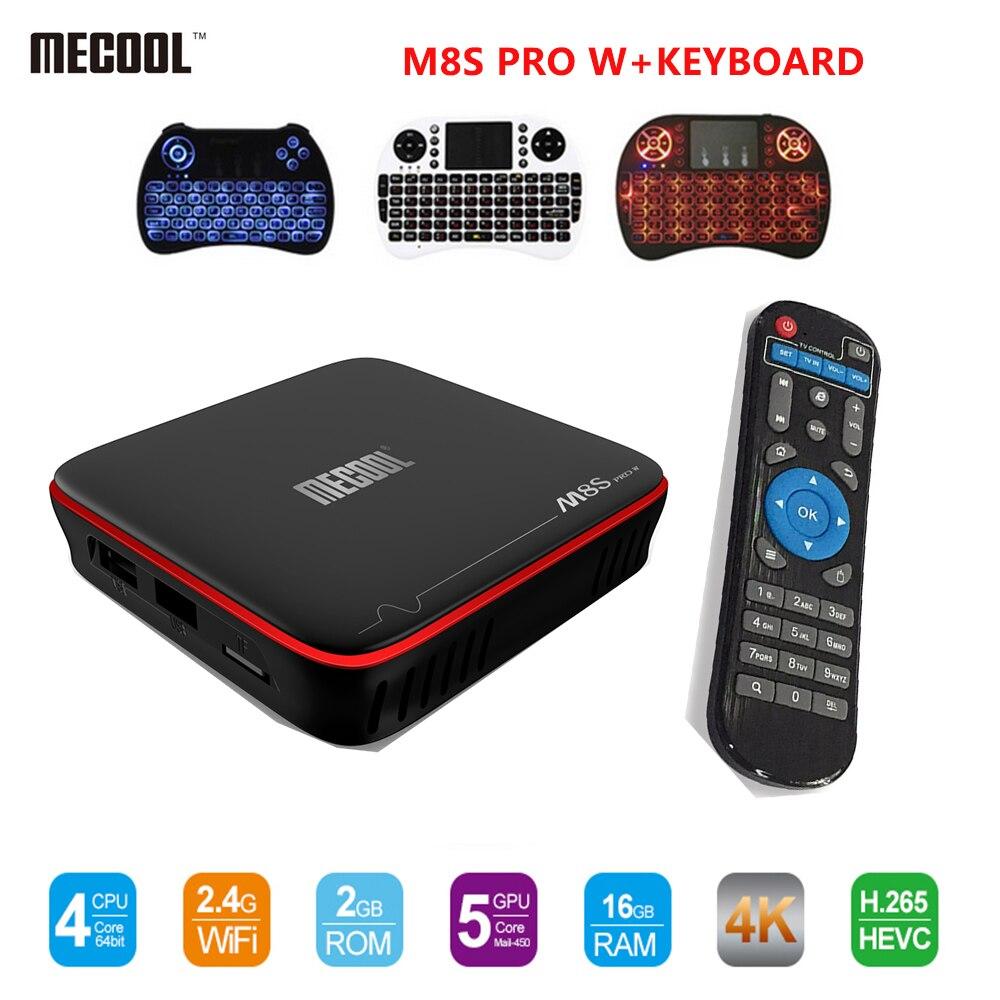 MECOOL M8S PRO W Android 7.1 TV Box Amlogic S905W CPU Quad nucleo 2 GB di RAM DDR4 16 GB S905W Smart Tv Box Quad Core Set-Top Box