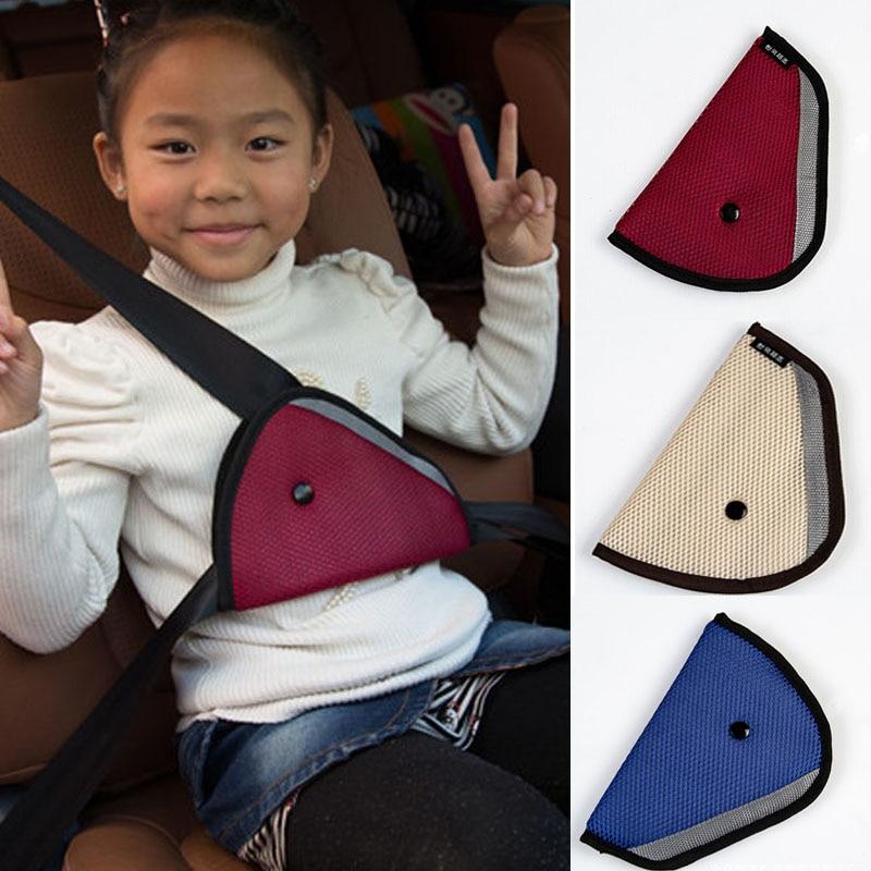 1pc triângulo cinto de segurança do carro ajustar para crianças bebê crianças oxford tecido capa de segurança do carro cinta acessórios cinto de segurança almofada