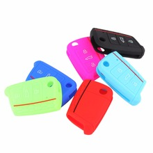 Silicone Hot 3 Buttons Key Case Cover Auto Key Portect Case Bag Car Accessories