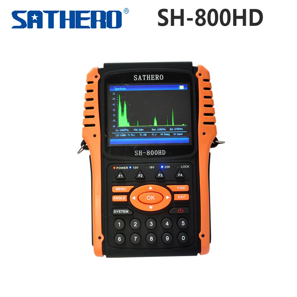 Prix pour 1 pc Origine Sathero SH-800HD DVB-S2 Numérique Par Satellite Finder Compteur USB2.0 HDMI Sortie Satfinder HD avec Analyseur de Spectre