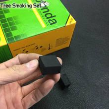 120 шт. Cube квадратный сжигание уголь кокосового ореха 25x25x15 мм кальян, кальян уголь зеленый панда угля горят табак