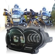 오토바이 라이트 110W LED 프런트 헤드 라이트 BMW R1200GS R1200 GS adv 2004 2012