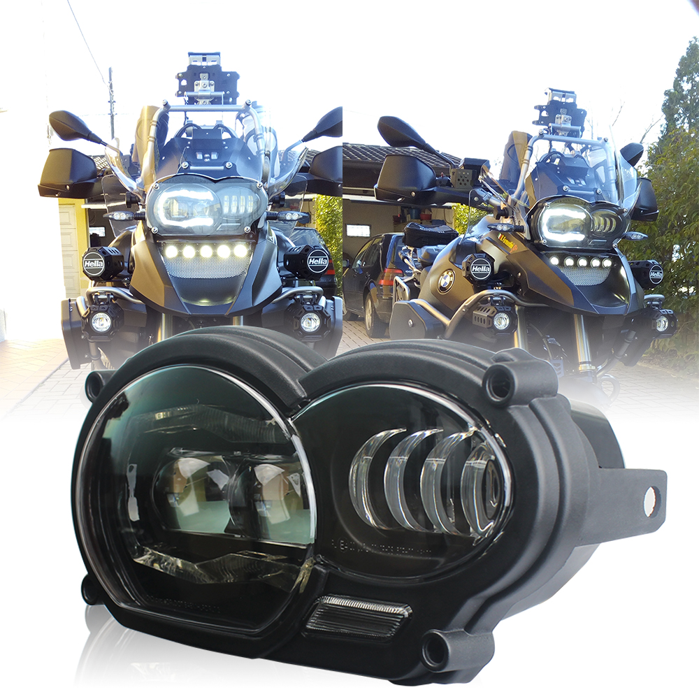 Motorcycle light 110W LED Front Headlight For BMW R1200GS R1200 GS adv 2004-2012 title=