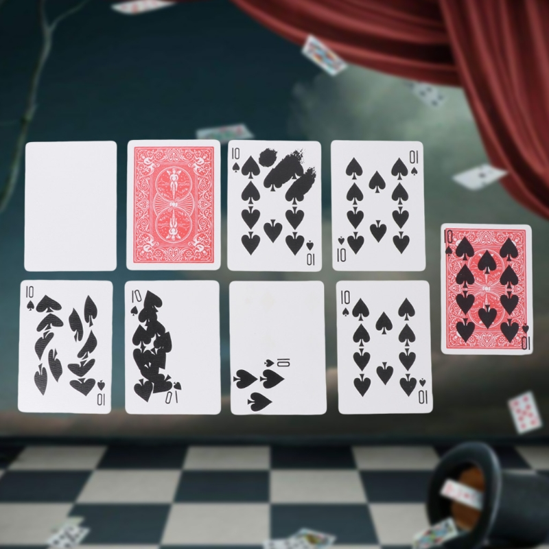 New Fast Printing Gimmick Cards Magic Tricks Props Stage Close up Magic Magican-m22 image