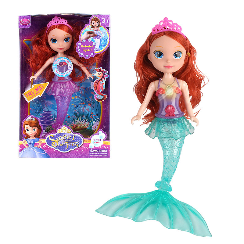 My first Princess Mermaid Doll with Lights Music 30cm ...