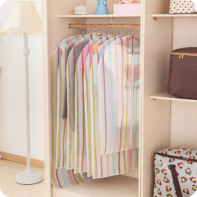Beau 3pcs/lot Closet Organizer Covers For Clothes Dustproof Cover Clothing  Wardrobe Clothing Hanging Type Storage