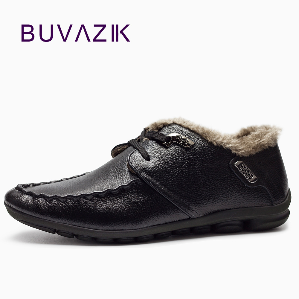 2017 genuine leather winter casual men shoes short plush inside super warm fashion loafers black blue brown comfortable men shoe top brand high quality genuine leather casual men shoes cow suede comfortable loafers soft breathable shoes men flats warm