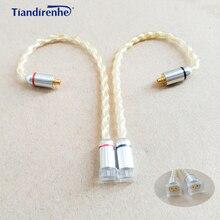 0.78mm 2 pin Vrouwelijk naar MMCX Mannelijke Oortelefoon Headset Kabel Adapter voor shure SE215 SE535 SE846 voor Weston 1964 w4r um3x es3 es5