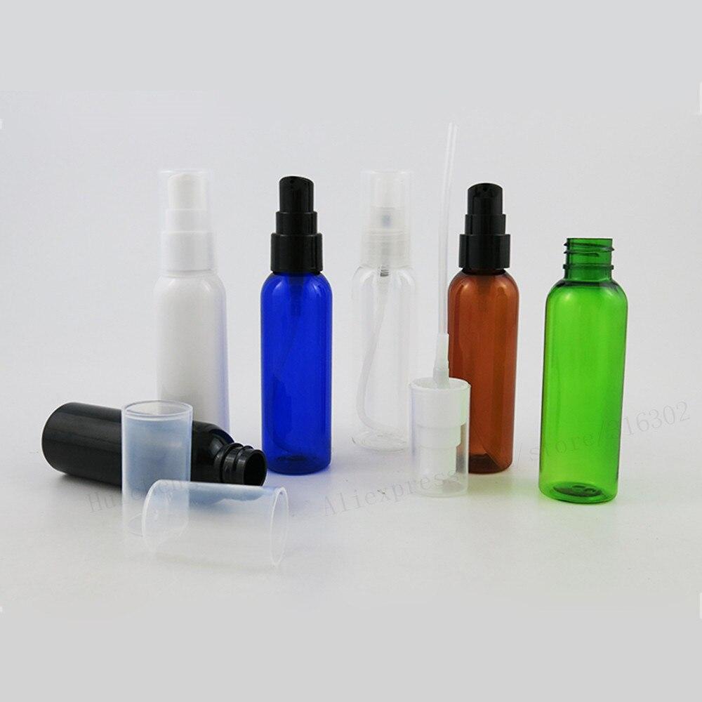 50 x 60ml Amber Clear Black white Green Pet Plastic Lotion Pump Bottle 60cc Plastic Bottle