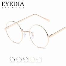 34854831e715e5 Unisex Classic Round Alloy Spectacle Vintage lunette de vue Eyewear Retro  Clear Lens Optical Myopia Reading
