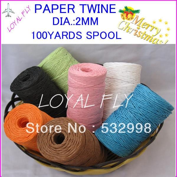 5pcs / lot geben Farbenmischungsfarben-Papierschnur 100yards / spool - Partyartikel und Dekoration