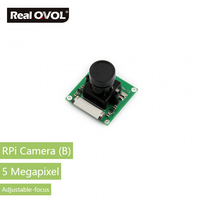 RealQvol Raspberry Pi Camera Module Adjustable Focus 5 Megapixel OV5647 Sensor Supports All Revisions Of The