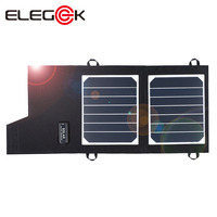 ELEGEEK High Efficiency 7W Portable Solar Panel Charger 5V Solar Phone Charger for Power Bank & Cell Phone