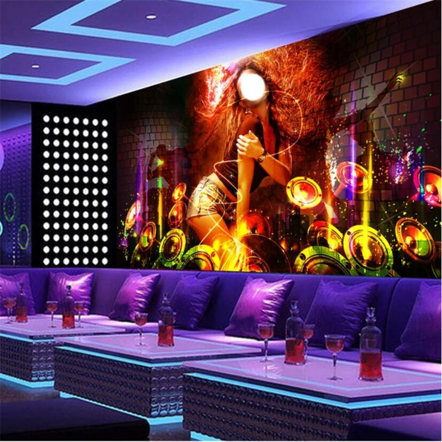 beibehang Custom wallpaper <font><b>3d</b></font> mural hot dance <font><b>sexy</b></font> girl bar KTV decorative background <font><b>wall</b></font> <font><b>papers</b></font> home decor <font><b>3d</b></font> papel de parede image