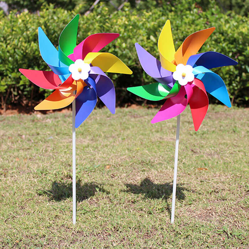1 Pcs NEW Garden Yard Party Camping Windmill Wind Spinner Ornament Decoration Kids Toy