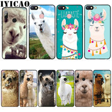 IYICAO Lama Llama Alpacas Animal Silicone Soft Case for Xiaomi Redmi 6A 5A Note 8 7 4 4X 5 Plus 6 Pro Black TPU Cover(China)