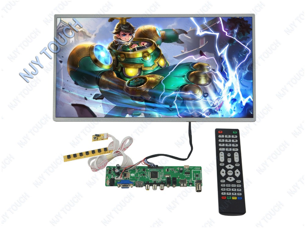 HDMI USB AV VGA ATV PC LA.MV56U.A LCD Controller Board kit Plus 15.6inch 1366x768 LP156WH4 TLA1 LVDS Monitor Kit купить