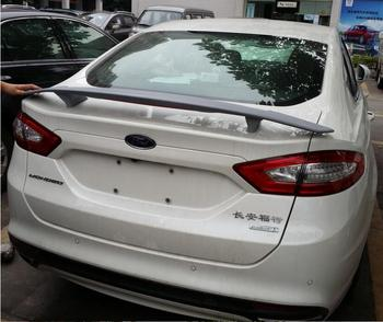 ABS PRIMER CAR REAR WING TRUNK LIP SPOILER FOR  Ford Mondeo Fusion 2013 2014 2015 2016 2017 2018 (With LED LAMP)