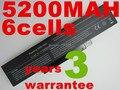 5200 MAH 6 celdas Batería Nave Libre BATEL80L6, BATEL80L9, BATEL90L6, BATEL90L9, BATFL91L6, 1425 1427, para lenovo e42 e42l e42g k42