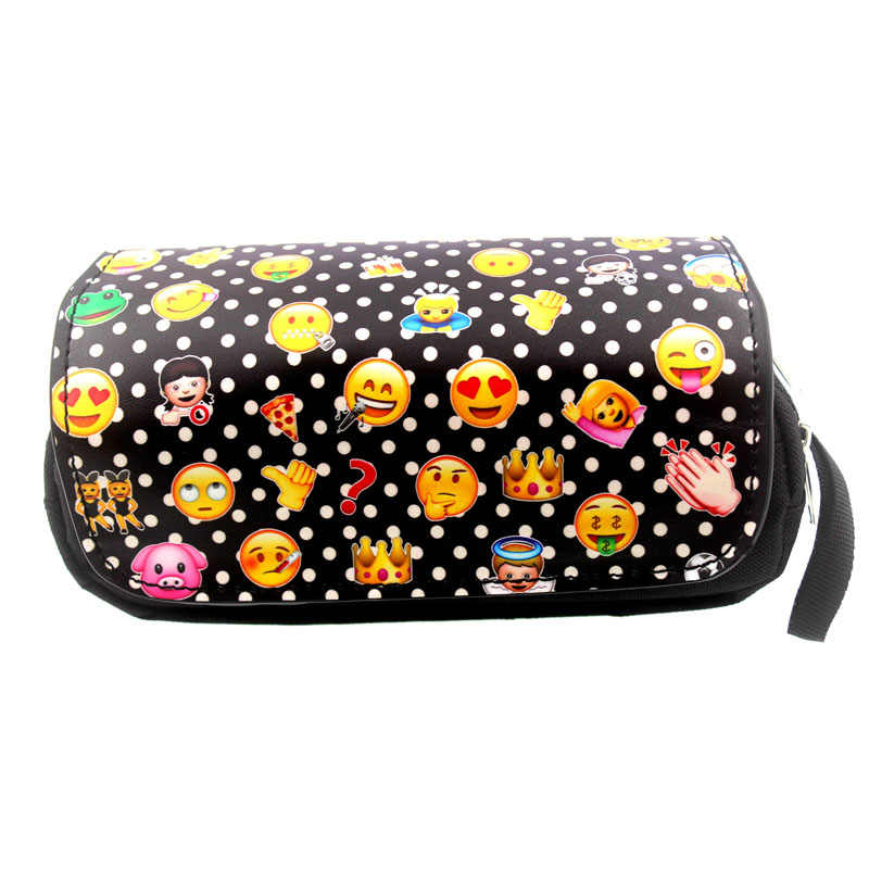 EMOJI Smiley Pencil Case Stationery Office & School Supplies Makeup Bags as Girls Boys Gift