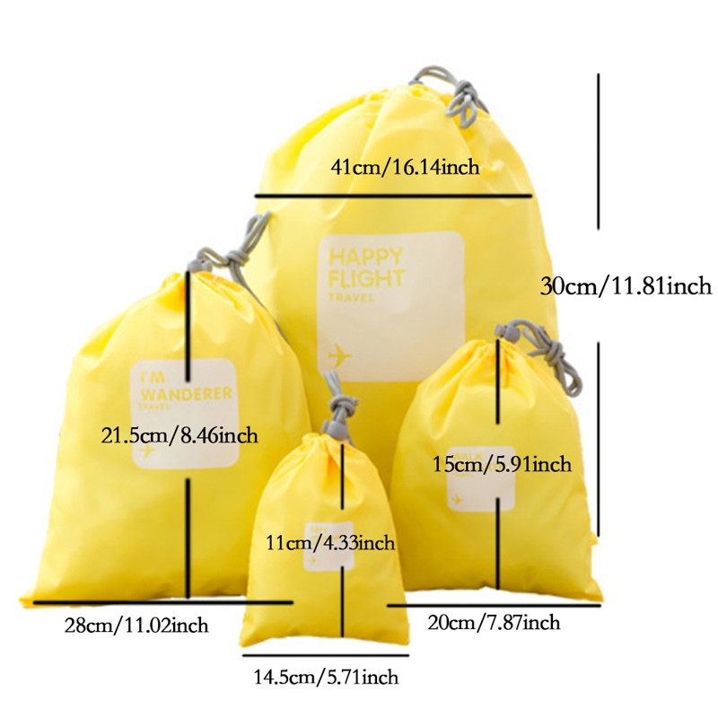 Aliexpress.com : Buy 4 different size Drawstring Bags / Ditty Bag ...