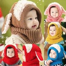 Zimní čepice s ušima spojená s nákrčníkem pro děti