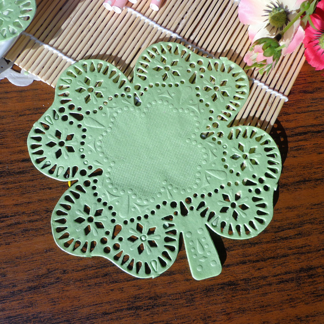 200pcs 6inch Green Clover Design Paper doily Cake Doilies Paper Disposable Party Tablewar Mats and Pads & 200pcs 6inch Green Clover Design Paper doily Cake Doilies Paper ...