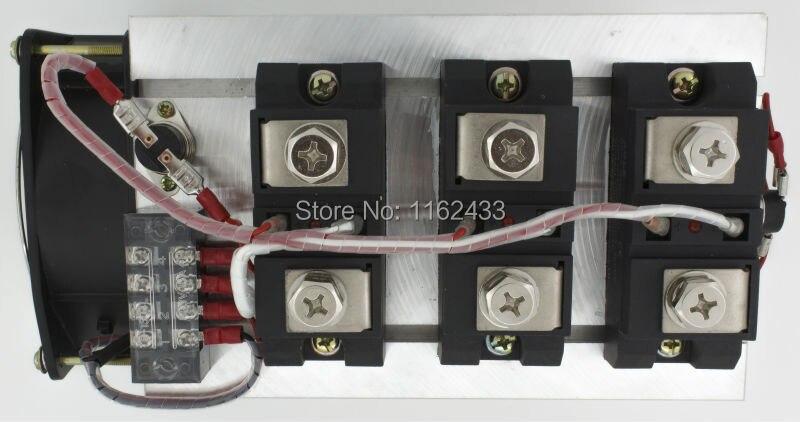 H3600ZF-3 triphasé DC à AC 600A 24-480Vac ensemble de relais à semi-conducteurs de qualité industrielle/ensemble SSR