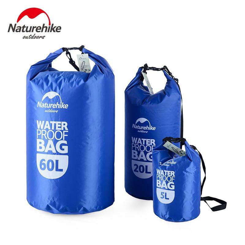 NatureHike River Trekking Bags 5L 20L 60L Bag Outdoor Dry Swimming Kayaking Waterproof Bags Beach ocean Rafting Bag
