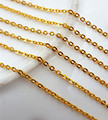 20m/lot 16K gold Plated 1.6mm Link Rolo Chains Fashion Jewelry Chains for Necklace fit Floating Locket