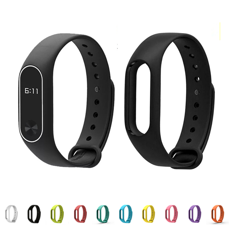 Konaforen 10 Color Mi Band 2 Accessories Pulseira Miband 2 Strap Replacement Silicone Wr ...