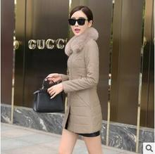 women jacket women winter coat Winter new Korean Slim was thin high-end simulation PU leather long coat free shipping
