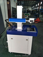 High quality 10w 30w 60w plastic bottle / Wood / cloth / cable laser marking machines for production line with CE