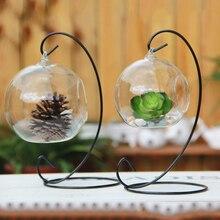 Szklany świecznik ze stojakiem
