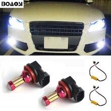 BOAOSI 2x High Bright White Canbus H8 H11 LED Fog Light Bulbs No Error For Audi A3 A4 A5 S5 A6 Q5 Q7 TT