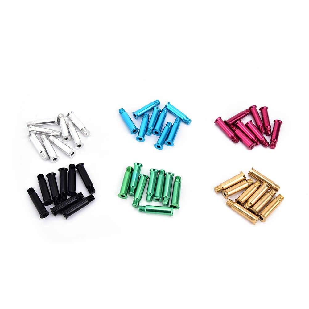 8 قطعة زلاجات دوارة أجزاء المحور الذكور والإناث مسامير للطفل طفل أو الكبار الحرة التزلج حذاء تزلج بعجلات 6 ألوان