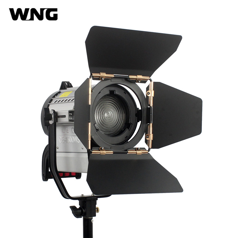 150W LED Fresnel Light LED Spotlights Video Studio Spotlight Dimmable Bi-color 3200K-5600K for Studio Photo Video Lighting mens watches top brand luxury sport quartz watch dom m 132 leather strap clock men waterproof wristwatch relogio masculino