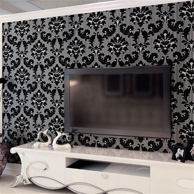 beibehang 3D Relief Ultra - thick Deer Skinpot Continental Damascus Living Room Wallpaper TV Bedside Background Wall paper