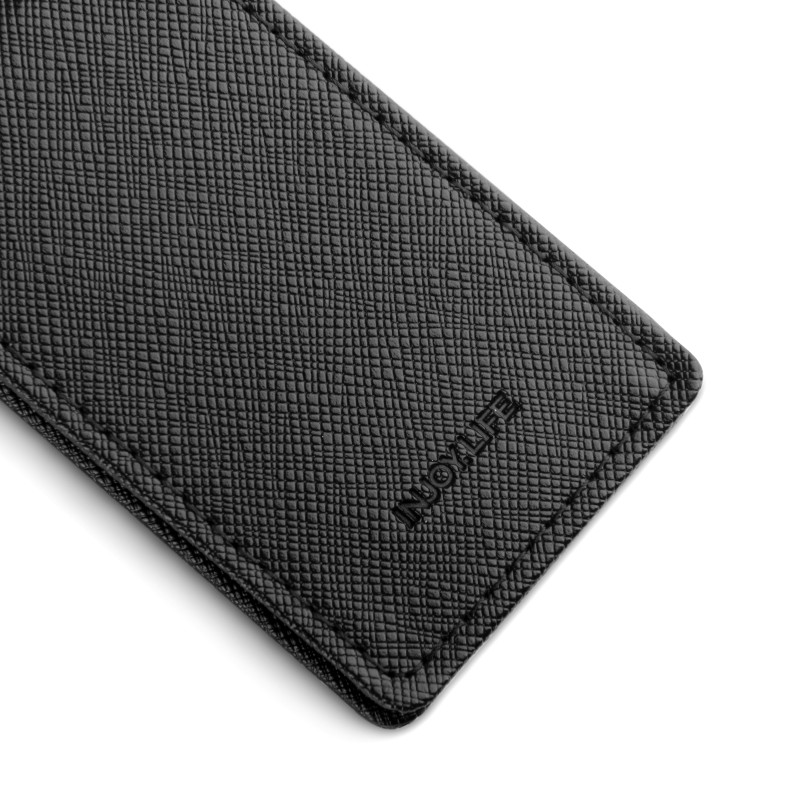 Image 5 - Friendship Gift Brand Genuine Leather Money Clip Purse Men Strong Magnetic High quality Black Clip for Money holderwallet diamondwallet case for iphone 3gsclip on shoe accessories -