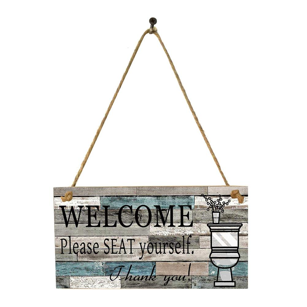 Printed Wooden Wall Hanging Welcome