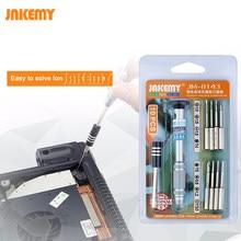 Conjunto de precisão chave de Fenda Magnética Bits Alça De Alumínio Destornillador Tournevis iPhone Para X 8 7 6 5S 4 Reparação Ferramentas Kit