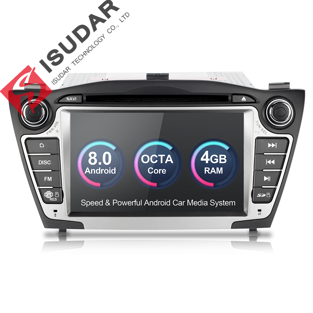 Isudar Car Multimedia Player GPS Android 8.0 2 Din For Hyundai/IX35/TUCSON Canbus Radio Rear View Camera Wifi Microphone DDR3 Honda Grom
