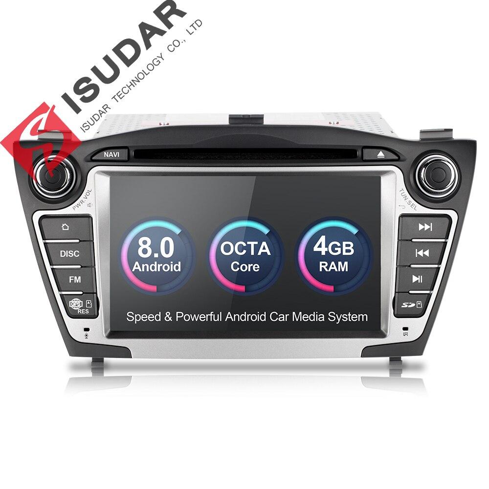 Isudar Car Multimedia Player GPS Android 8.0 2 Din Per Hyundai/IX35/TUCSON Canbus Radio Videocamera vista posteriore Wifi Microfono DDR3