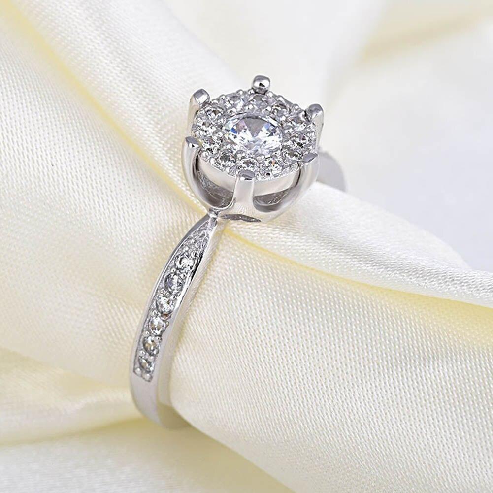 korean wedding rings eight heart eight arrows rhinestone