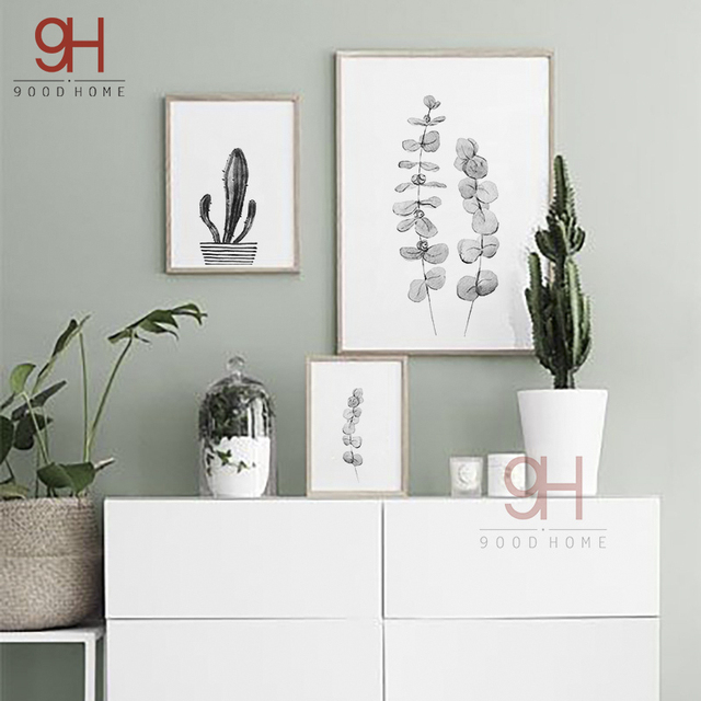 Buy 900d Canvas Art Print Painting Poster Nordic Style Watercolor Plant Wall