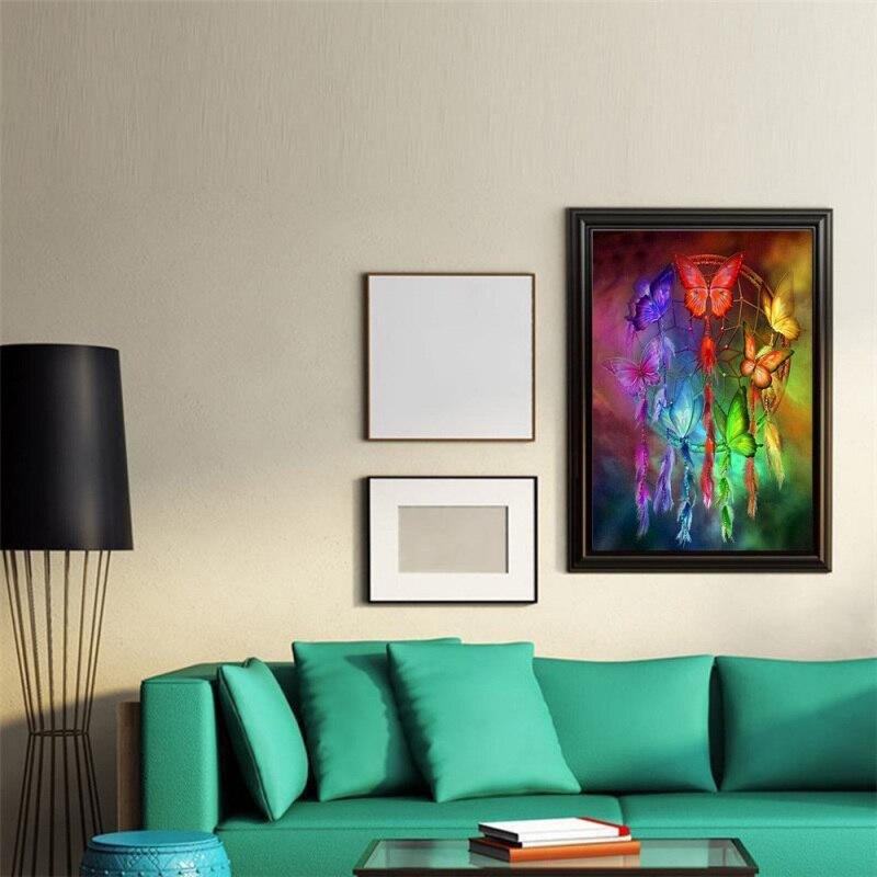 US $2.82 16% di SCONTO|Casa Soggiorno camera Da Letto Decorazione Forniture  Impression Vento Colore Farfalla Colorata Pittura Diamante-in Pittura e ...