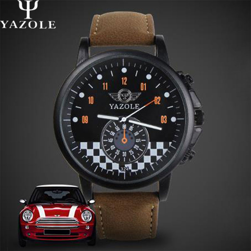 YAZOLE Car Sport Watch Men 2018 Top Brand Luxury Famous Male Clock Quartz Watch Wrist Men Hodinky Quartz-watch Relogio Masculino car styling carbon fiber auto rear wing spoiler lip for vw scirocco 2010 2012
