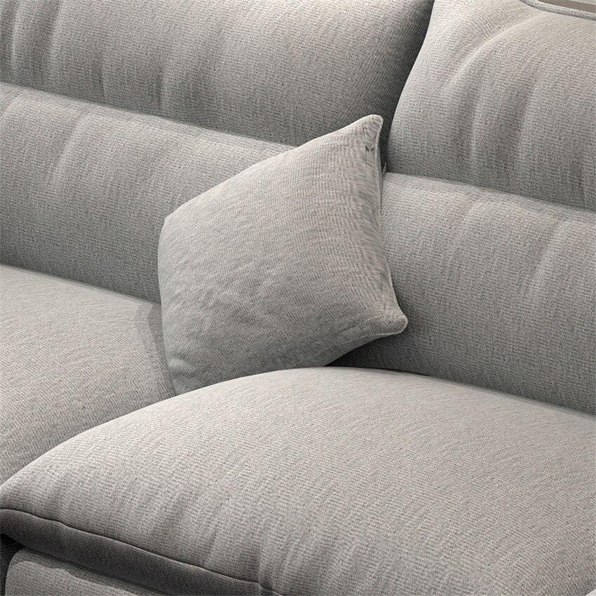 006 хлопок лен/ворс набор диванов секционный откидной диван для гостиной рама дивана комбинация губка/латексные частицы подушка - 3